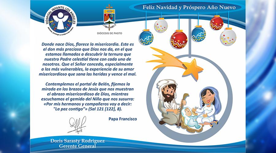Feliz Navidad y Próspero Año Nuevo, les desea la Fundación Hospital Infantil Los Ángeles